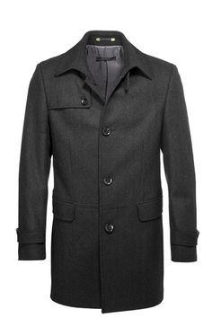 ESPRIT blended wool coat with herringbone pattern