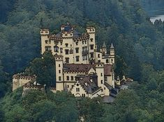 The beautiful Hohenschwangau Castle in Schwangau, Germany. It was the childhood residence of King Ludwig II of Bavaria and was built by his father, King Maximilian II of Bavaria. Bavaria, Medium Art, Beverly Hills, Castle, Instagram Images, Germany, Mansions, Wall Art, Country