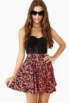 Skater skirt and bustier top