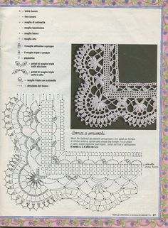 Best crochet edging patterns for hats ideas Crochet Border Patterns, Crochet Lace Edging, Lace Patterns, Crochet Chart, Thread Crochet, Filet Crochet, Irish Crochet, Crochet Doilies, Crochet Flowers