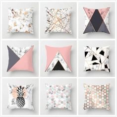 New Geometric Printed Pillow Case Cover Square Polyester Pillowcase Home Decorative Foam Pillows, Baby Pillows, Kids Pillows, Animal Pillows, Throw Pillows, Burlap Pillows, Square Pillow Covers, Throw Pillow Covers, Pillow Cases