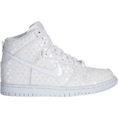Nike Dunk High Women's Shoe ($49) ❤ liked on Polyvore featuring shoes, sneakers, nike, nike shoes, ball shoes, grip shoes, genuine leather shoes and nike trainers