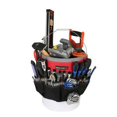 Ironland Bucket Tool Organizer Made of tough water resistant polyester with strong webbings. Fits most 5 gallon buckets Garden Tool Bag, Garden Tools, Tool Organization, Tool Storage, Tool Pouch, Oxford Fabric, Wholesale Bags, Tool Kit, Ebay