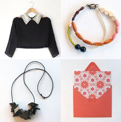 I want to DIY the lower left necklace. I want to DIY it so bad!