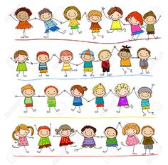 Find Group Sketch Kids stock images in HD and millions of other royalty-free stock photos, illustrations and vectors in the Shutterstock collection. Doodle Drawings, Easy Drawings, Doodle Art, Drawing For Kids, Art For Kids, Art Children, Image Svg, Stick Figure Drawing, Stick Figure Family