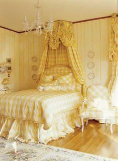 Now, go and prepare the bedroom for February find the proper romantic music and enjoy your holiday. Valentine Bedroom Design For Honeymoon_ Mansion Bedroom, Home Bedroom, Bedroom Decor, Bedroom Ideas, Traditional Home Magazine, Yellow Cottage, English Decor, Bedroom Night, Bedroom Images