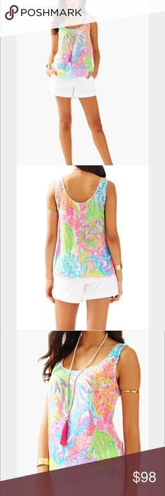Lilly Pulitzer cosmos top Lilly Pulitzer cosmos top. As seen NWT. I don't trade but feel free to make an offer Lilly Pulitzer Tops Tank Tops
