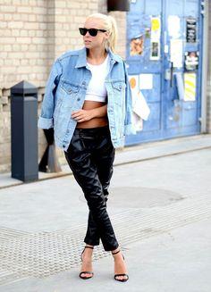 Victoria Tornegren /Jeansjacka - Asos, Byxor - Choies, Topp - Topshop, Skor - Zara, Denim jacket - Asos, Trousers - Choies, Top - Topshop, Shoes - Zara #blogger #fashion #cool