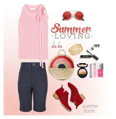 """""""Summer Loving"""" by musicfriend1 ❤ liked on Polyvore featuring Giorgio Armani, Vanessa Seward, Monsoon, J.W. Anderson, Jeffrey Campbell, Christian Dior, Bobbi Brown Cosmetics, INC International Concepts and SUGARFIX by BaubleBar"""