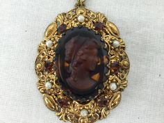 Vintage Cameo| Vintage Pendant| Made in Germany| Gift for her| Fashonista Gift| Christmas Gift| OOAK Gift| Mom Gift