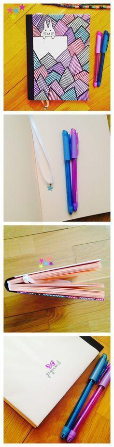 Cuaderno hecho a mano con tapas ilustradas por uno mismo   -   Handmade notebook with cover illustrated by me.