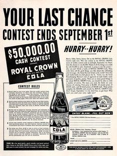 Original 1938 RC Cola Contest Ad
