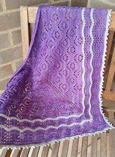 Ravelry: Fields of Lavender (Shawl) pattern by Francoise Danoy