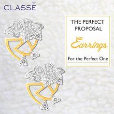 Gold Diamond Earrings, Diamond Jewellery, Perfect Proposal, Wedding Jewelry, Fashion Jewelry, Jewels, Collection, Diamond Jewelry, Trendy Fashion Jewelry