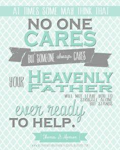 He cares...