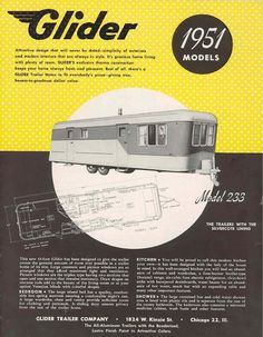 Vintage mobile home ad   Mobile Home Living   Factory Built History   1951