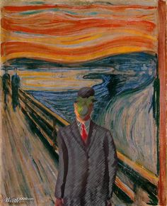 When Magritte meets Munch - Worth1000 Contests