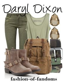 """""""Daryl Dixon"""" by fofandoms ❤ liked on Polyvore featuring 14th & Union, Plein Sud Jeanius, J.W. Anderson and Lipsy"""