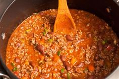 Receta chili con carne Et Yemekleri Chilli Recipes, Pork Recipes, Wine Recipes, Cooking Recipes, Healthy Recipes, Authentic Mexican Recipes, Mexican Food Recipes, Ethnic Recipes, Salsa Nachos