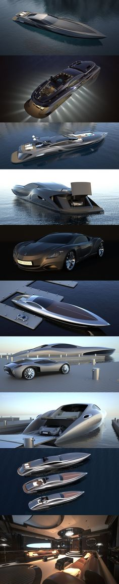 Strand Craft by Gray Design, luxury yachts and super cars I want one or two. Yacht Luxury, Luxury Life, Luxury Cars, Yacht Design, Boat Design, Jet Ski, Speed Boats, Power Boats, Yachting Club