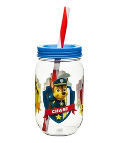 Love this PAW Patrol 19-Oz. Jar Tumbler by PAW Patrol on #zulily! #zulilyfinds