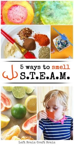Sensing STEAM: Awesome Science, Technology, Engineering, Art and Math Activities for Kids - Left Brain Craft Brain Math Activities For Toddlers, Senses Activities, Fun Indoor Activities, Steam Activities, Math For Kids, Kindergarten Activities, Classroom Activities, Steam For Preschool, Brain Craft