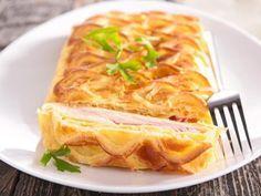 Feuilleté au jambon - Recette de cuisine Marmiton : une recette