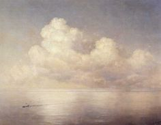 "Clouds over the sea (Nagi)"" 1889 112x149 cm Russian Museum, Aivazovsky St. Petersburg"