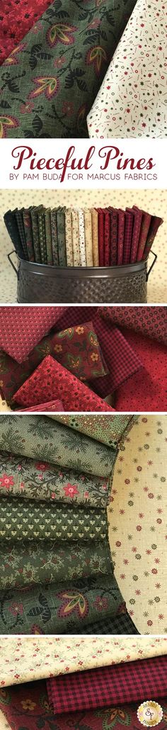 Pieceful Pines by Pam Buda for Marcus Fabrics is a rustic collection available at Shabby Fabrics.