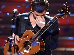 Phillip Phillips...American Idol Winner!  Wish the video was available....gracious winner and tender moments with his family!