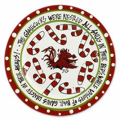 South Carolina Gamecock Christmas Plate