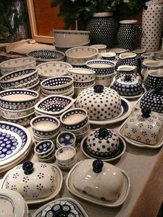 I love the Hand made pottery from Boleslawiec (source: wikimedia commons).  I love the circles they use.                                                            -Penny-