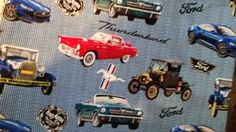 Gorgeous VIntage Cars Fabric--Great for Quilting--Shirts n more--HARD Find--40-70% off Patterns n Books SALE by altcollect. Explore more products on http://altcollect.etsy.com