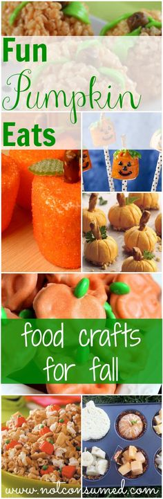 When the best pumpkin crafts meet the best pumpkin recipes. You're going to love these edible pumpkin crafts! Perfect for any fall celebration.