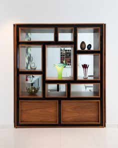 Bespoke through the wall shelving unit from InHouse Interiors