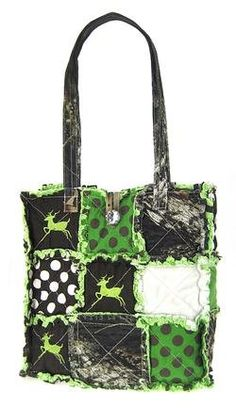 Buy New: $16.99 - $25.99: Patchwork Leaf Camo Tote Bag Purse Camouflage Deer and Polka Dots and I love it in pink and I what one.