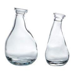 IKEA VARVIND Vase, Set of 2, Clear Glass