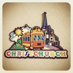 ニュージーランドのクライストチャーチのマグネット。大地震で教会は崩れてしまったのは本当に残念です。すごくヨーロッパっぽい素敵な街。