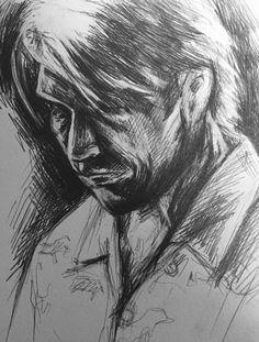 Nigel, pencil on paper.