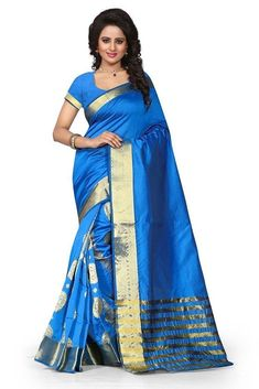 162e8afb49f Make your casual look more beautiful wearing showcasing Designer Saree. It  comes along with matching