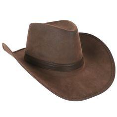 Cowboy Hat Faux Suede Brown | Disguises Fancy Dress Online Australia