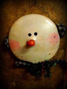 pot lid snowman