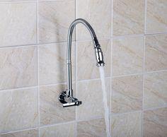 MOEN Single Handle Wall Mount Kitchen Faucet With 9 In. Spout In Chrome  (Grey) | Wall Mount Kitchen Faucet, Kitchen Faucets And Wall Mount
