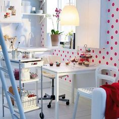 ideas for interior design and decorating with polka dots