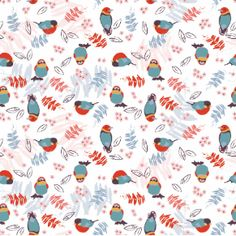 My bird pattern on Motiflow. Sweet birds leaves, flowers and branches, all together in one design. Hope you'll love it too! One Design, Pattern Design, Print Design, Bird Patterns, Print Patterns, Simple Complex, Branches, Design Inspiration, Birds