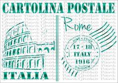 Cartolina Postale A5-29 - Tjhoko Paint A5, Stencils, Bullet Journal, Social Media, Painting, Card Stock, Painting Art, Paintings, Templates