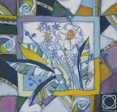 платок \Цветок\. . Работы автора. . Королькова Мария Константиновна. . Художники. . Картины, картинная галерея, продажа картин
