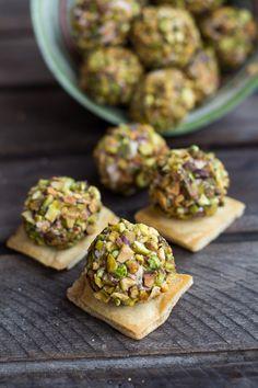 Crazy Greek Feta, Sun-Dried Tomato and Pistachio Truffles | halfbakedharvest.com