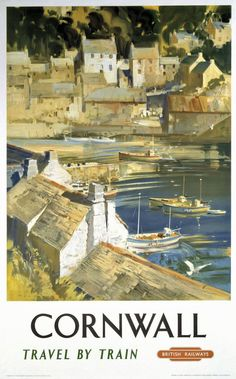 Shop Vintage travel,Cornwall Poster created by ContinentalToursist. Train Posters, Railway Posters, British Holidays, British Travel, National Railway Museum, Into The West, Poster Pictures, Train Travel, Travel Uk