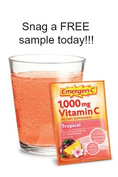 """Emergen-C is awesome, & if you haven't tried it yet don't miss out on this FREE sample! They even have many great flavors to pick from!  Just click Snag This now, fill out their form, & order your FREE sample today!  Please """"like"""" this sample so your Facebook friends can Snag it too. …"""